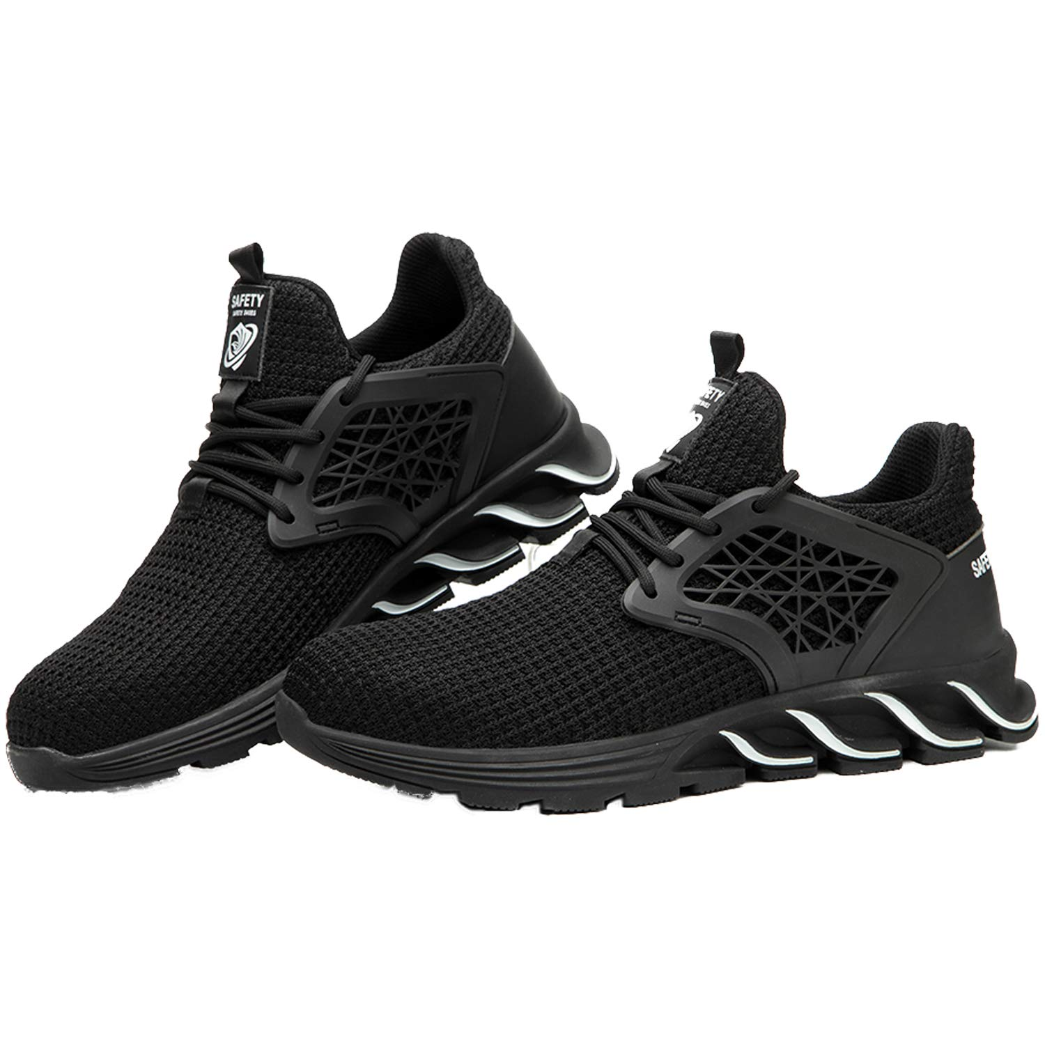 MARITONY Work Steel Toe Shoes Men Women Indestructible Safety Shoes Puncture Proof Non Slip Composite Toe Sneakers Industrial Construction Work Shoes