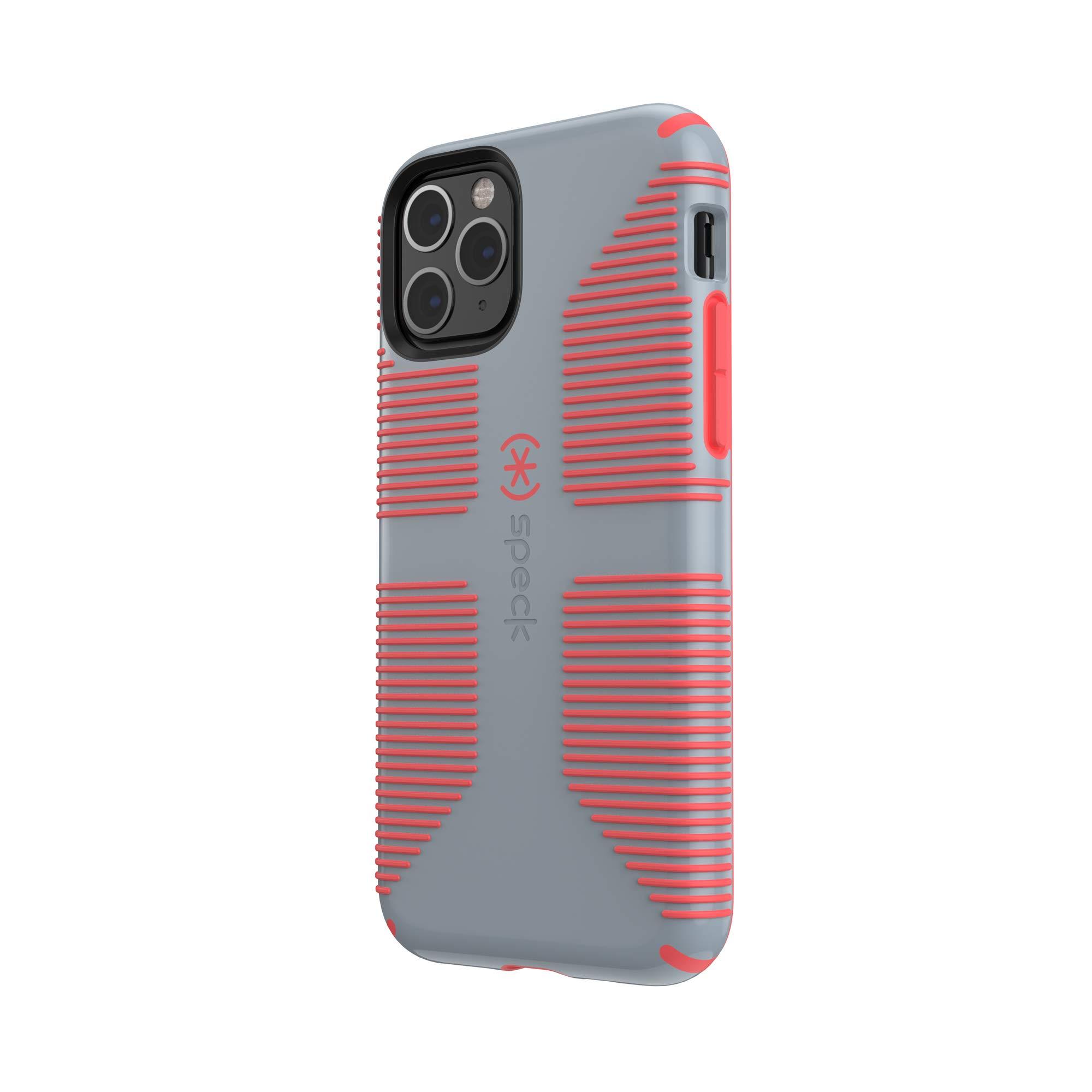 Speck CandyShell Grip iPhone 11 Pro Case, Nickel Grey/Warning Orange