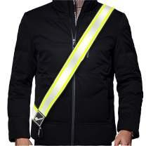 2021 Newest Plus Safety Reflective Sash Adjustable/Outdoor Activitie/Walking/Running/Biking/Motorcycle/Skiing/Dogs/Kids Play/Lightweight Durable Versatile No-Fuss Night Safety Reflective Gear