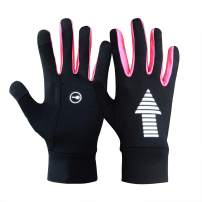 Evridwear Running Cycling Driving Outdoor Indoor Thermal Warm Lightweight Touchscreen Gloves for Men and Women