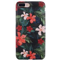 GOLINK iPhone 7 Plus Case/iPhone 8 Plus Floral Case, Matte Flower Series Slim-Fit Anti-Scratch Shock Proof Anti-Finger Print Flexible TPU Gel Case for iPhone 7/8 Plus(F28)