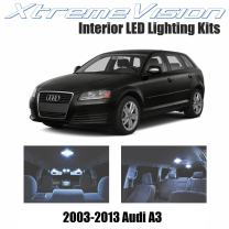 XtremeVision LED for Audi A3 2003-2013 (12 Pieces) Cool White Premium Interior LED Kit Package + Installation Tool