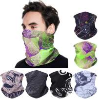 Seamless Face Cover Bandanas 6pcs Magic Headbands Scarf Neck Gaiter Balaclava Headwear for Men Women