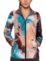 Gaharu Women's Casual Long Sleeve Full Zip Fleece Outerwear Jacket Coat with Pockets