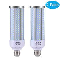 LED Corn Light Bulb,E26/E27 Medium Base,Cool Daylight White,for Factory Warehouse High Bay Barn,50W Bright Light Bulbs - 2 Pack