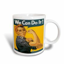 3dRose Vintage We Can Do It War Production Committee Poster Mug, 11 oz, Ceramic