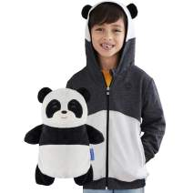 Cubcoats Papo The Panda 2 in 1 Transforming Hoodie and Soft Plushie, Black and White
