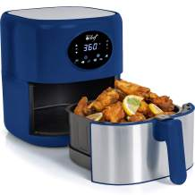 Deco Chef 3.7QT Digital Air Fryer with 6 Cooking Presets, LED Touch Controls, Adjustable Temperature and Time, Detachable Dishwasher Safe Non-Stick Basket, ETL Certified, Blue