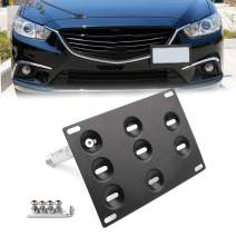 Bruce & Shark Bumper Tow Hook License Plate Mount Bracket Holder for Mazda3 for Mazda6 CX5 MX5