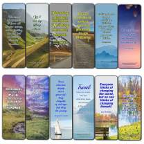 Inspirational Quotes Bookmarks Cards Series 3 (60 Pack) - Perfect Gift Away for Friends and Loved Ones
