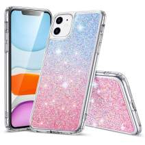 ESR Glitter Crystal Designed for iPhone 11 Case, Glamour Series Sparkling Crystal Cover [Flexible TPU Frame + Hard PC Back] [Supports Wireless Charging] for iPhone 11 6.1-Inch (2019), Skyfire