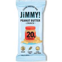 Jimmy! Peanut Butter Crunch Protein Bars, 20g Protein, Low Sugar, 24 Count, Packaging May Vary