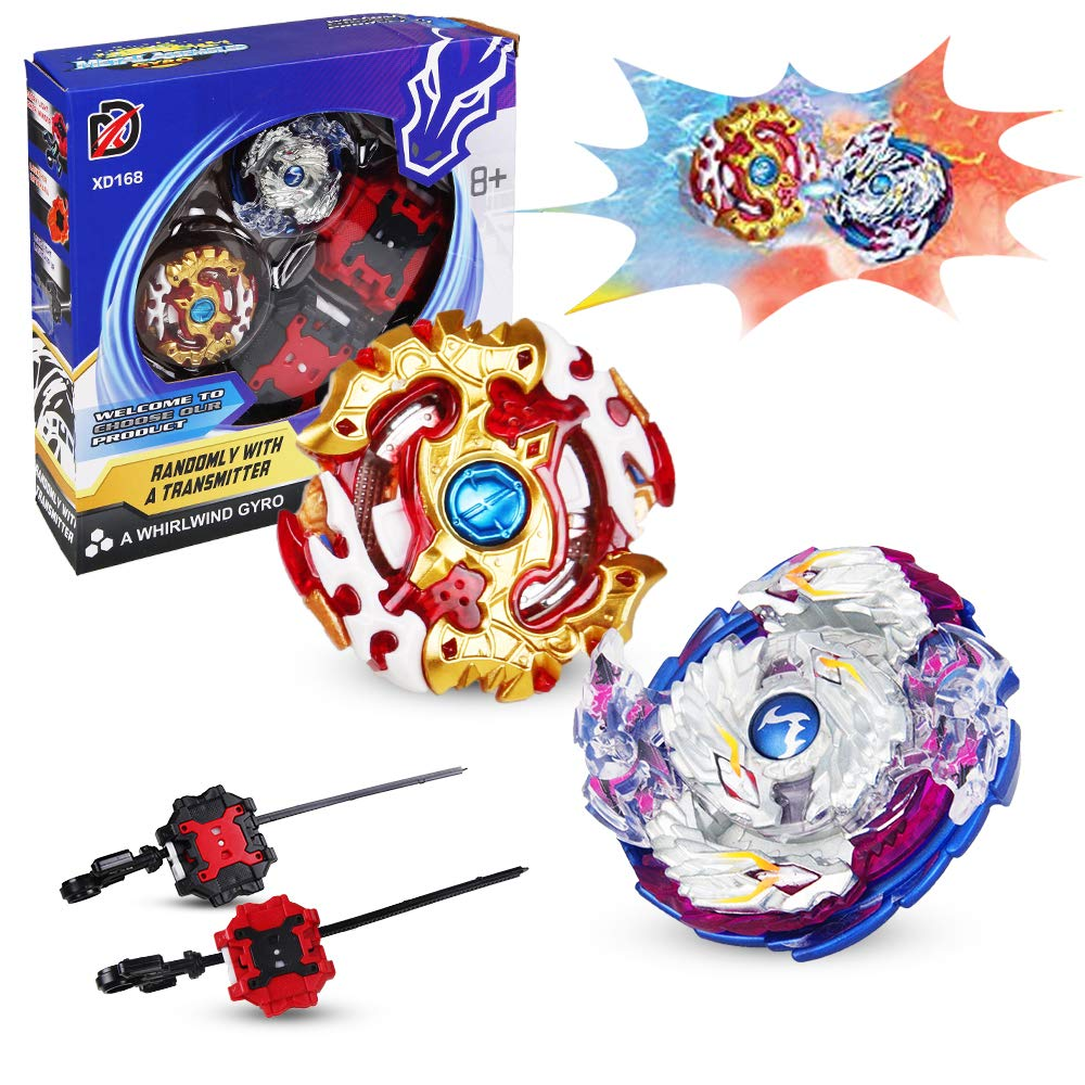 Bey Battling Top Burst, Combat Gyro Burst 4D Fusion Model, Spinning Tops x2, Power Launchers and Pull Strings x2, Best Toys Gift for Boys Kids Children