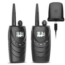 Rechargeable Walkie Talkies for Adults, 22 Channel FRS Long Range Walkie Talkie Two Way Radio with 1500mAh Rechargeable Li-ion Battery for Adult Outdoor, Business, Camping, Cruising