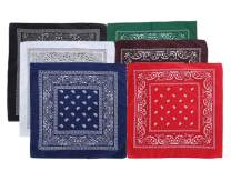 3/12 Pack Cotton Bandanas for Men & Women Cowboy Paisley Bandana Headband Scarf