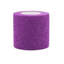 "COMOmed Self Adherent Cohesive Bandage FDA Approved 2""x5 Yards First Aid Bandages Stretch Sport Athletic Wrap Vet Tape for Wrist Ankle Sprain and Swelling,Purple(12 Rolls)"