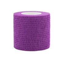 """COMOmed Self Adherent Cohesive Bandage FDA Approved 2""""x5 Yards First Aid Bandages Stretch Sport Athletic Wrap Vet Tape for Wrist Ankle Sprain and Swelling,Purple(12 Rolls)"""