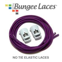 iBungee Laces (Elastic No Tie Shoelaces) Stretch Laces With Lace Locks - Sized For Neat Fit, Easy Installation (Made in the USA)