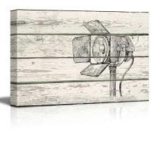 wall26 - Studio Lighting Print CrossHatc Artworkh- Rustic Canvas Wall Art Home Decor - 32x48 inches