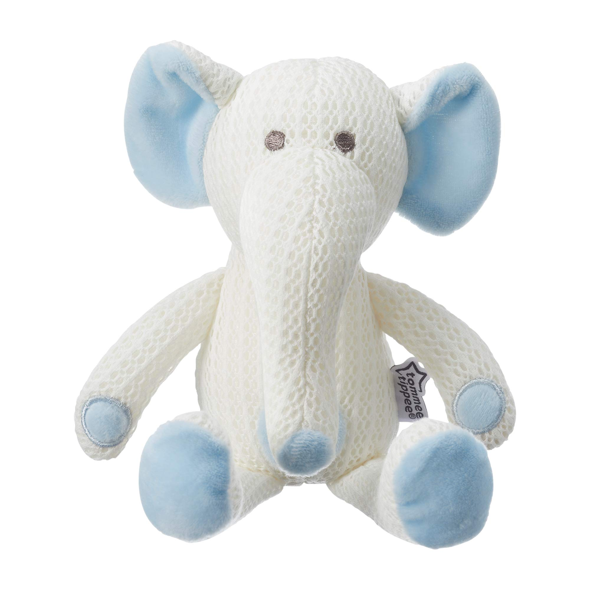 Tommee Tippee Hypoallergenic Stuffed Animal Breathable Toy, Machine Washable, Eddy the Elephant, 0+ months