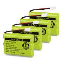 QTKJ Cordless Phone Battery for Motorola SD-7501 MD7161 AT&T 27910 89-1323-00-00 E1112 E2801 TL72108 Vtech I6725 RadioShack 23-959 (4-Pack)