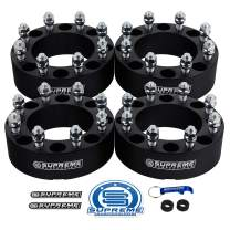 """Supreme Suspensions - 4pc 1.5"""" Wheel Spacers for 2010-2014 Dodge Ram 2500 2WD 4WD 8x6.5"""" (8x165.1mm) BP with 9/16""""x18 Studs 130mm Center Bore [Black]"""