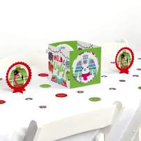 Big Dot of Happiness Wild and Ugly Sweater Party - Holiday and Christmas Animals Party Centerpiece and Table Decoration Kit