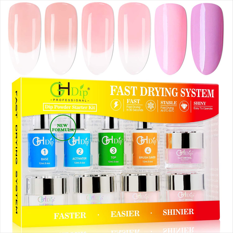 Dip Powder Nail Kit Acrylic Nail Dip Powder Kit G641 (5 French color)