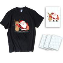 12 Sheets Dark T-Shirt Transfers A4 T-Shirt Transfers Heat Image Transfer Sheets Paper Suitable for Inkjet Printers for Dark Fabric 8.27 X 11.7 inches Print Iron on Make Your Own Shirt