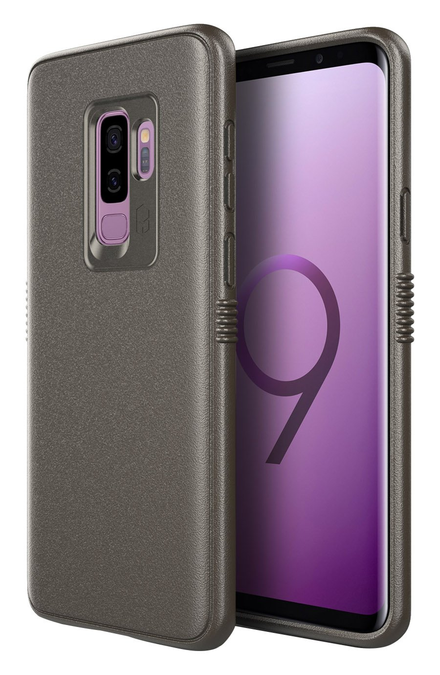 PATCHWORKS One Piece TPU PC Hybrid Dual Material Matte Extreme Grip Slim Fit with Added Air Pocket and Drop Tested Hard Case for Galaxy S9 Plus