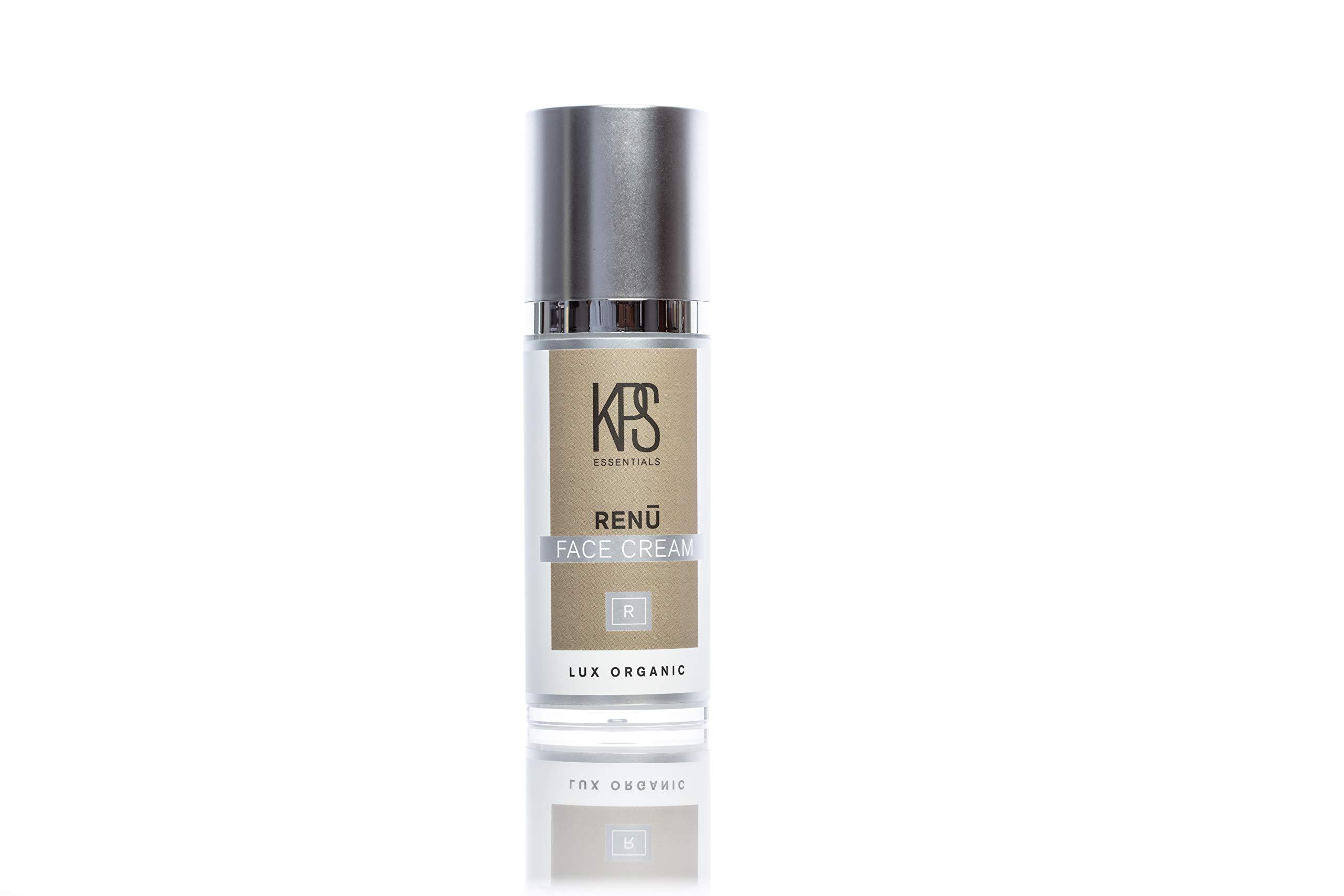 Organic Acne & Scar Treatment - 1oz | Hyaluronic Acid, Vitamin C | Replenish Collagen | Redefine Eye Cream | Dark Spot Corrector | Reduce Puffiness | Crepe Correcting | Renu Skincare by KPS Essentials