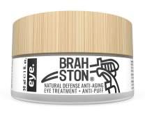 BRAHSTON   NATURAL DEFENSE ANTI-AGING EYE TREATMENT + ANTI-PUFF   Organic + 98% Natural   Strong + Effective   Clear, Cooling, Lightweight Daily Under Eye Gel   1 Fl. Oz.