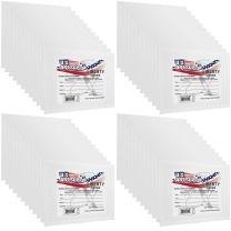 US Art Supply 11 X 14 inch Professional Artist Quality Acid Free Canvas Panels 48-Pack (4 Full Cases of 12 Single Canvas Panels)