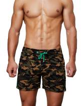 SEOBEAN Tauwell Mens Low Rise Sports Training Camouflage Shorts