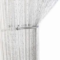 """AIZESI 39"""" x 78¡±Glitter String Curtain Panel,Window Panel Room Divider Strip Tassel for Wedding Coffee House Restaurant Parts,String Curtains White"""