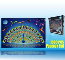 Marvelous Monkey 1000 PCS Gorgeous Peacock Jigsaw Puzzles Game for Adults and Kids
