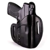 Urban Carry Lock Leather Hybrid OWB (Pancake) Molded Outside Waist Open/Conceal Carry Holster - Leather w/Kydex Advantage!