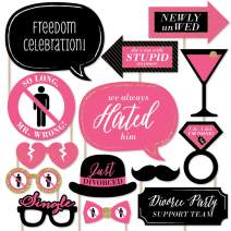 Big Dot of Happiness Divorce Party - Photo Booth Props Kit - 20 Count