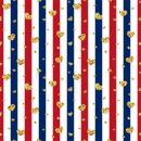 Laeacco 2x2meter Stripes Background 6.5x6.5ft Photography Backdrop White Blue and Red Striped Background with Shiny Goden Hearts Colorful Stripe Lines Backdrop Birthday Party Banner Event Celebration