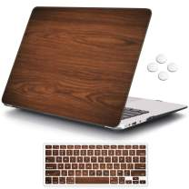 MacBook Air 13 inch Case (Release 2010-2017 Older Version), iCasso Hard Shell Plastic Protective Case & Keyboard Cover Only Compatible with MacBook Air 13 Inch Model A1369/A1466 - Brown