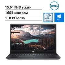 "KKE Upgrades Vostro 15 7590 Laptop, 15.6"" FHD Screen, Intel i7-9750H, 16GB RAM, 1TB M.2 PCIe NVMe SSD, GTX 1650, Backlit Keyboard, Wireless-AC, Bluetooth, Win10 Pro, Grey"