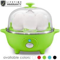Maxi-Matic Easy Electric Egg Poacher, Omelet Measuring Cup Included, 7 Capacity, Lime Green