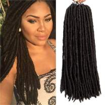 """Straight Faux Locs With Curly Ends Goddess Locs Crochet Hair Soft Dreadlocks For Braids Faux Locs Crochet Braiding Hair Extensions 6packs (14"""" (6-Packs), 4) …"""