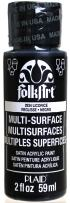 FolkArt Multi-Surface Paint in Assorted Colors (2 oz), 2934, Licorice