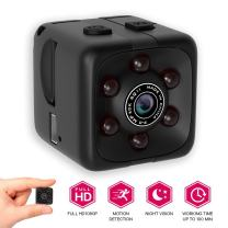 [New 2018 Upgraded] Spy Hidden Camera 1080P Portable Cube by Morvelly | Mini Security Wireless Camera | USB Cam with Night Vision/Motion Detection | for Home and Office - No WiFi Function