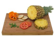 """BambooMN Brand - Heavy Duty Premium Bamboo Cutting Board - 17.25""""x12""""x1"""" - Grooved - 10 Pieces"""