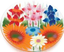 Pavilion Gift Company 14-Inch Round Plate with Wild Flowers Design