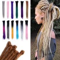 Dreadlocks Hair Extensions 24 Inch Faux Locs Crochet Twist Braiding Hair Reggae Hipple Style 15pcs/Pack Black/Rose Red/Purple