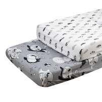 ALVABABY Changing Pad Cover Cradle Mattress 100% Organic Cotton Soft and Light Baby for Boys and Girls 2TCZ09