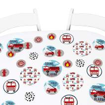 Big Dot of Happiness Fired Up Fire Truck - Firefighter Firetruck Baby Shower or Birthday Party Giant Circle Confetti - Party Decorations - Large Confetti 27 Count